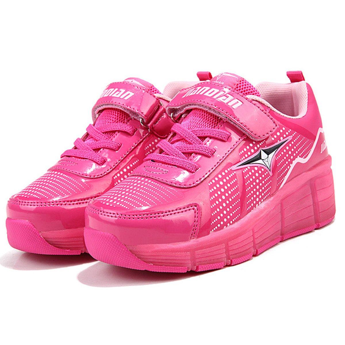 SGoodshoes Niños LED Zapatos con Ruedas Niña Zapatillas Deporte Patín Ruedas Zapatos con Luces para Mujer: Amazon.es: Zapatos y complementos