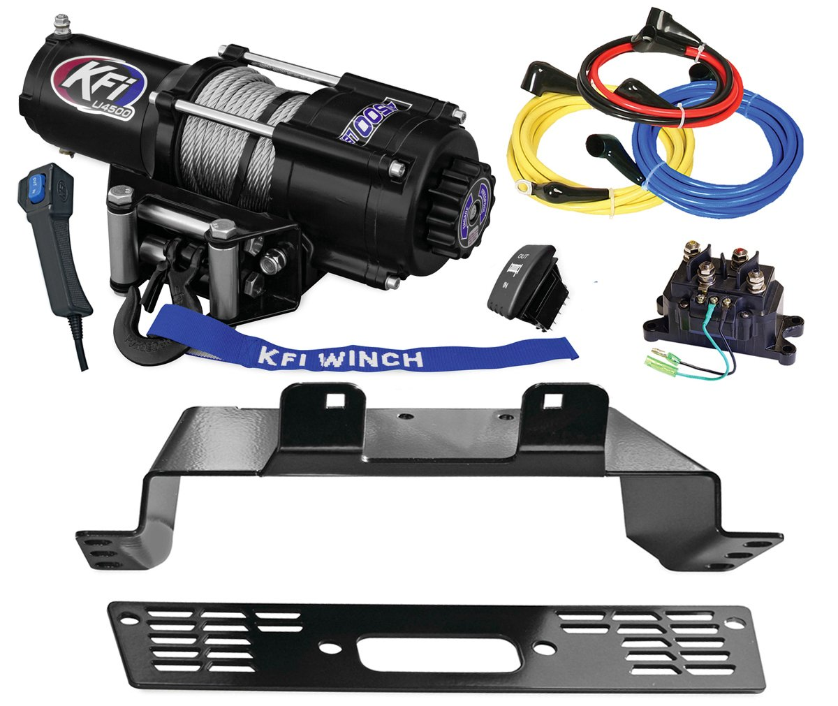 2014-2018 Polaris 570 Ranger 4x4 KFI U45-R2 Winch /& Mount Combo Kit Midsize