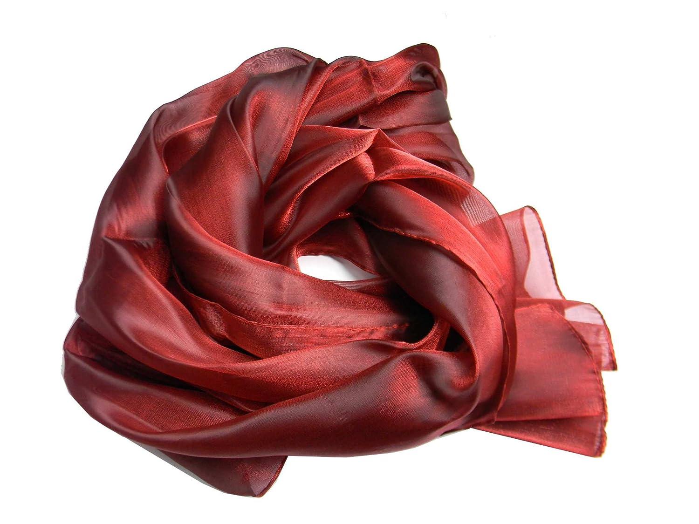 Avantgarde Stola cerimonia donna scialle elegante stole coprispalle a scelta raso lucido colore colour rosso bordeaux red rouge