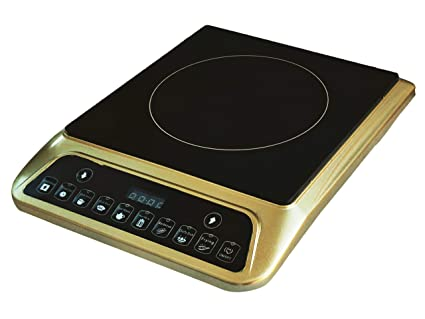 ORBON 2000 Watt Unique Golden Induction Cooktop/Induction Cookers/Electric Cooking Heater/Induction Radient Cooktop/Hot Plate/G Coil Stove (Made in India)