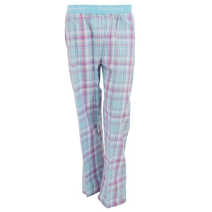 Pantalones de pijama a cuadros escoceses con banda elástica Jacquard en la cintura para mujer (
