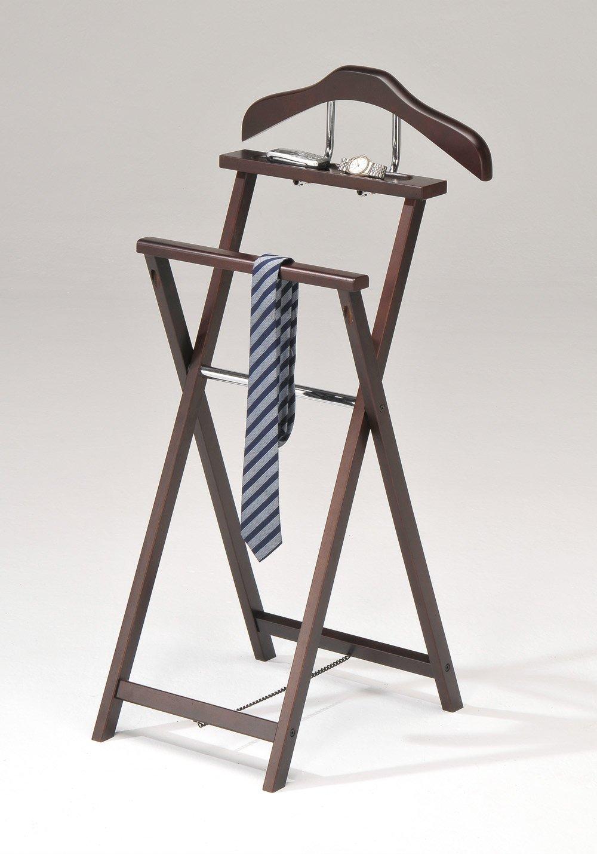 Amazon.com: Kings Brand Kings Brand Walnut Finish Solid Wood Suit Valet  Rack Stand Organizer: Kitchen U0026 Dining