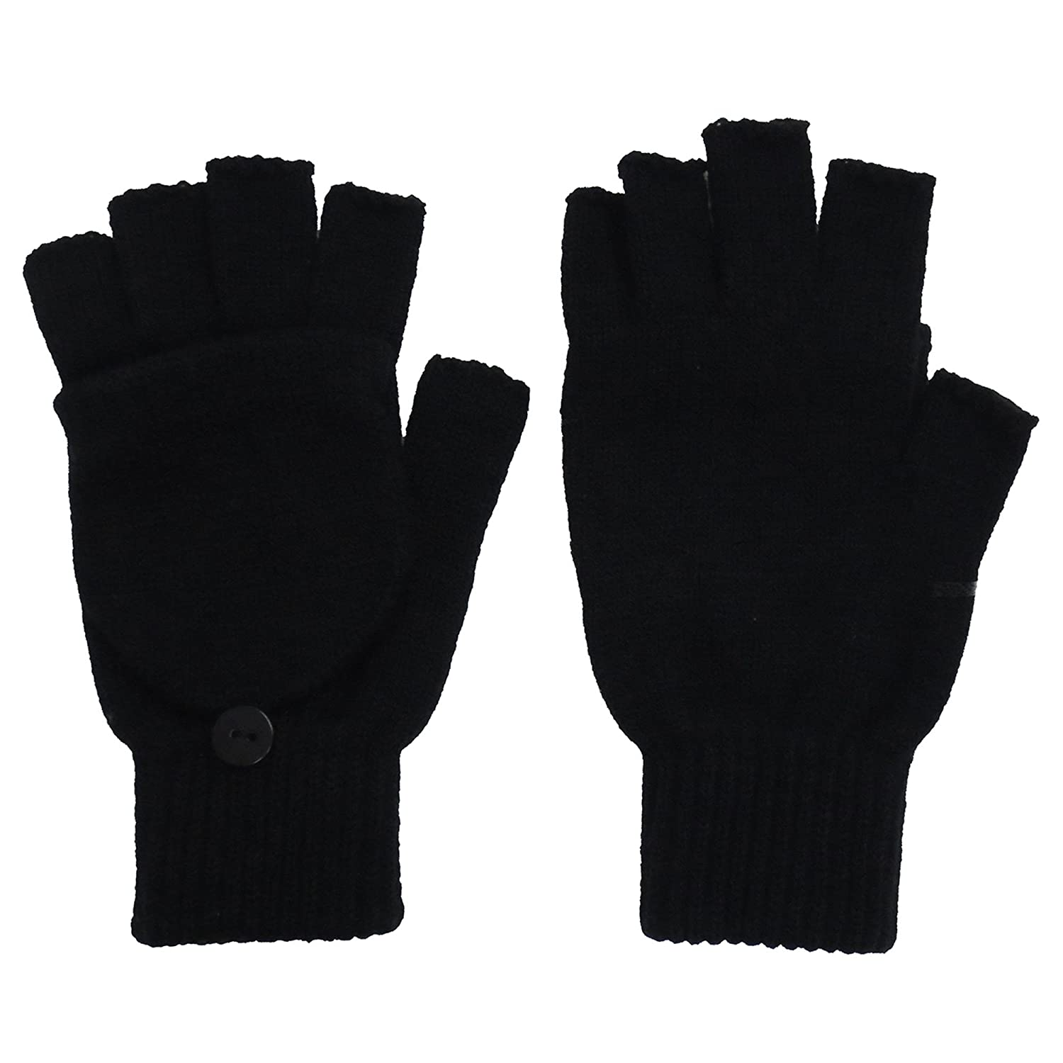 Fingerless gloves amazon - Amazon Com Simplicity Winter Fingerless Gloves With Flap Cover Mitten Gloves 56_black Sports Outdoors