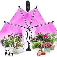 Växtlampa LED, växtljus, Corayer 80, odlingsljus, fullt spektrum, 10 dimmernivåer och 360° justerbar växtlampa med timer…