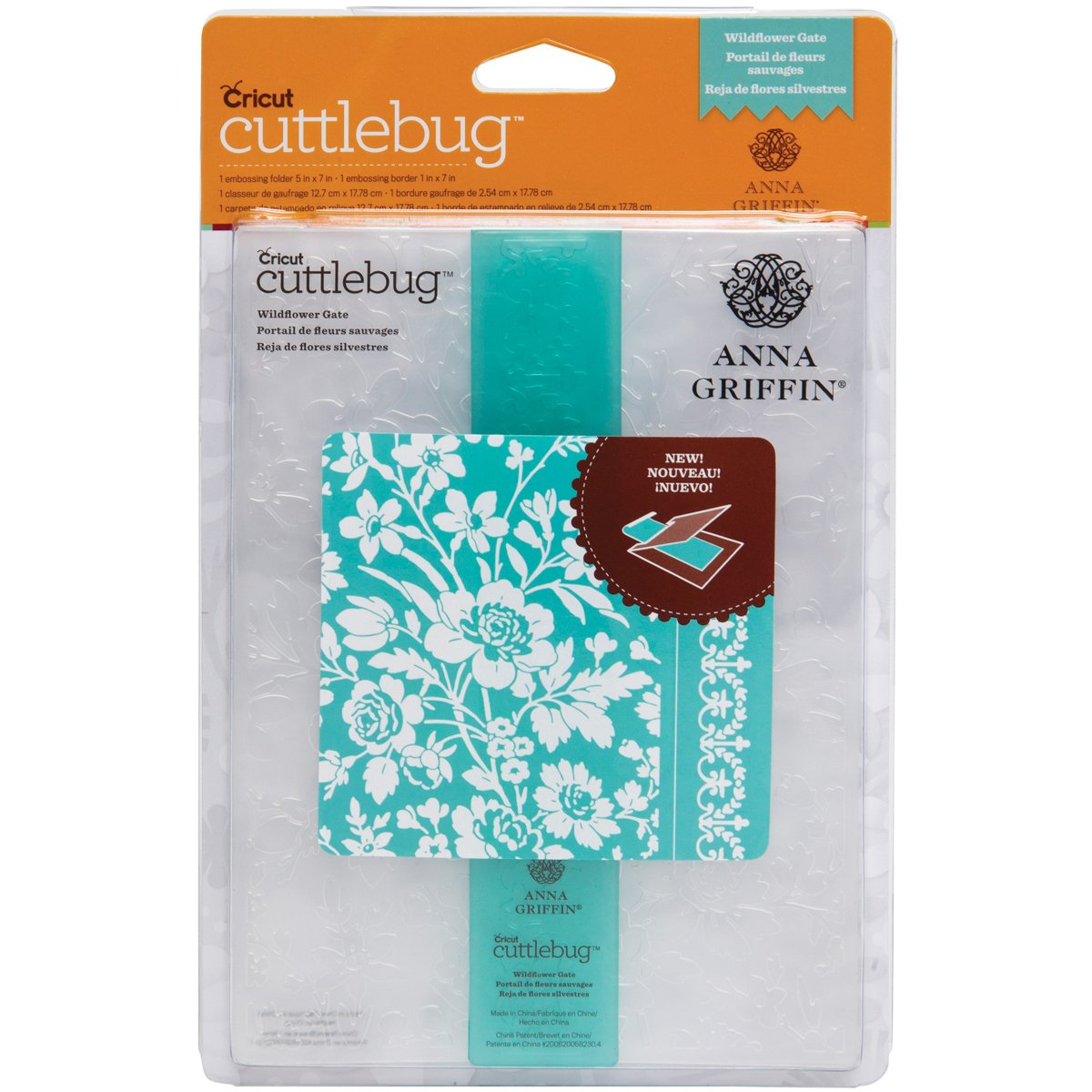 Cuttlebug Cricut 5 by 7-Inch Embossing Folder and 7-Inch Border, Wildflower Gate
