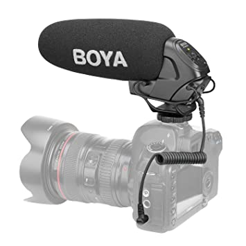 Boya micrófono Barril para cámara réflex: Amazon.es: Electrónica