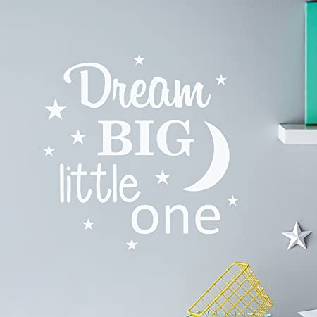 Decorrooms Dream Big Little One Famous Quotes Wall Decals Nursery