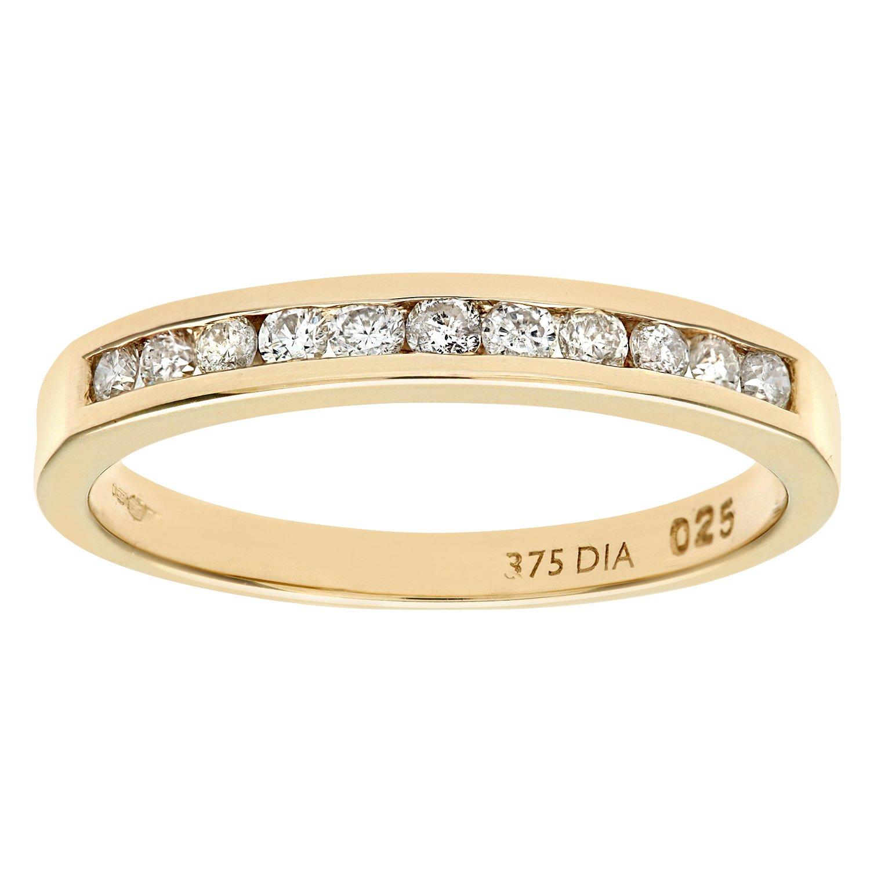 Naava 9ct Yellow Gold Diamond Channel Set Eternity Ring: Amazon.co ...