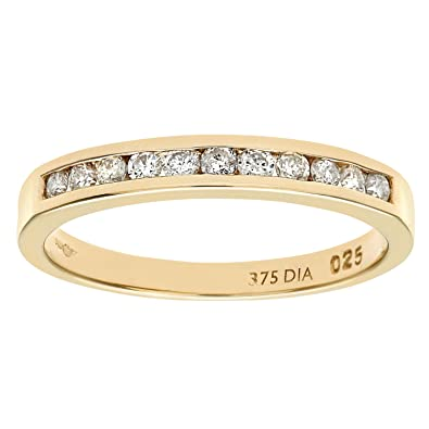 Citerna 9 ct Yellow Gold Eternity Ring with Channel Set Cubic Zirconia fK6d1