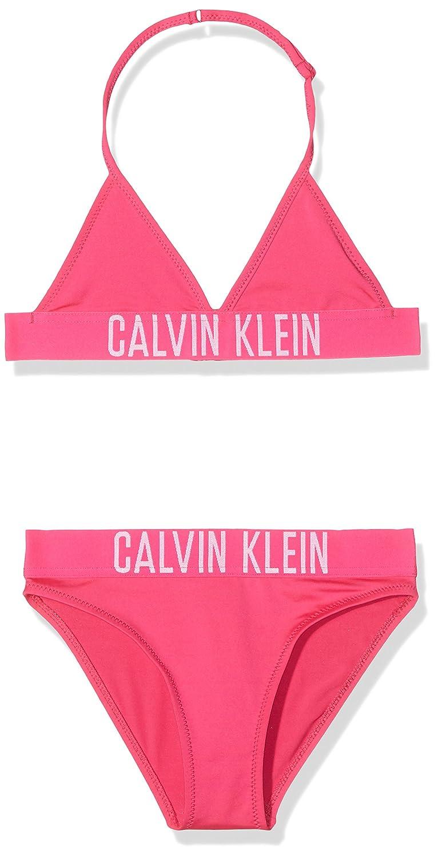 Calvin Klein Girl's Triangle Bikini Set Swimwear G80G800016