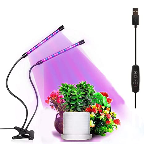 Q&Z Interior Escritorio Luz Cultivo Grow Lights 20W LED ...