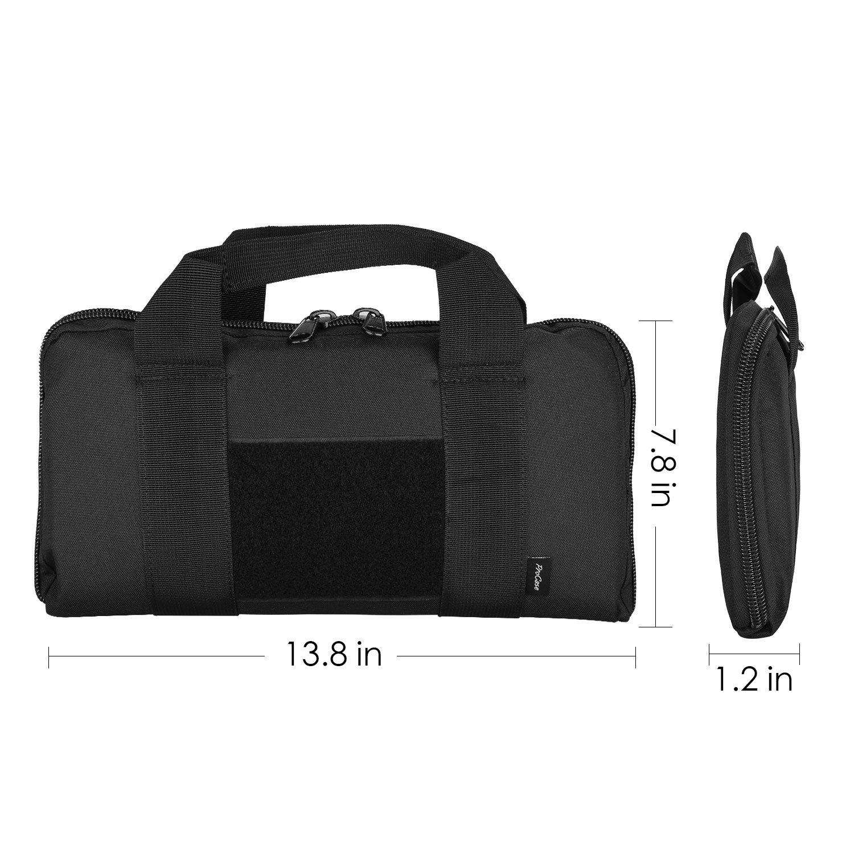 ProCase Tactical Pistol Case, Soft Shooting Gun Range Bag Handgun Magazine Pouch Duffle Bag for Hunting or Shooting Range Sport- Black by ProCase (Image #2)