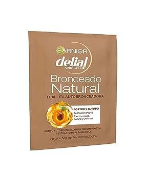 Garnier Delial Ambre Solaire - Toallita autobronceadora - Rostro y cuerpo bronceado natural - 5.6 ml: Amazon.es: Belleza