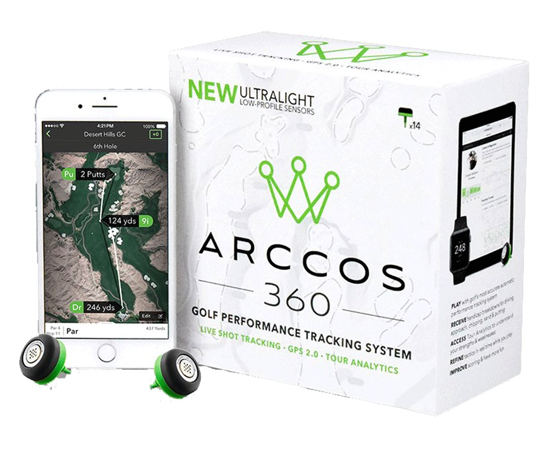 Arccos 360 with PlayBetter Portable Smartphone Charger | Golf GPS Live Shot Tracking System (for iOS & Android) 14-Sensor Set | App Offers Arccos Caddie | Bundle by Arccos Golf (Image #2)