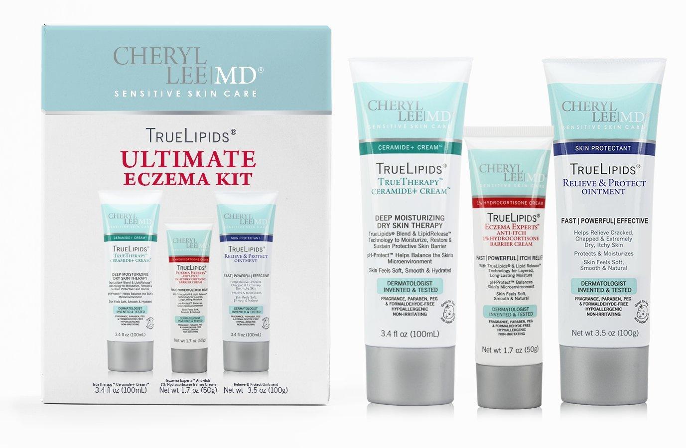 TrueLipids Eczema Treatment Cream for Dry Skin, Itch Relief and Moisturizer