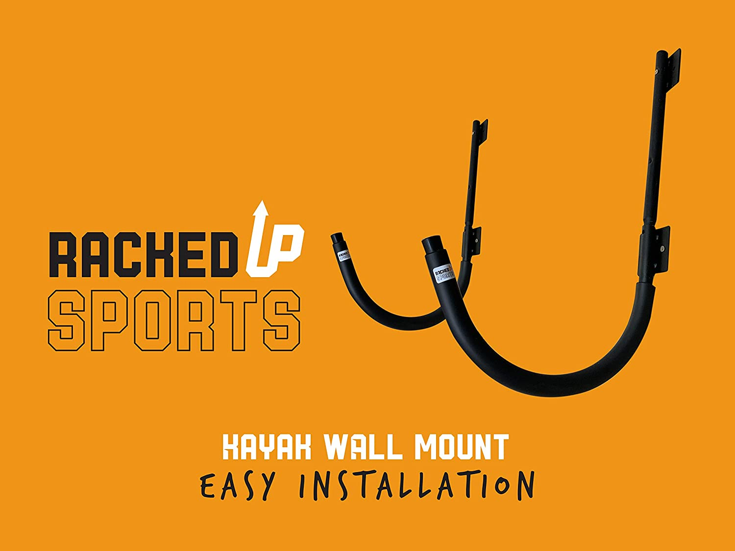Heavy Duty Wall Mount Hanger Rack for Kayaks Paddle Boards Kayak Wall Hangers Craddle Hooks Racked Up Sports 300lb Capacity