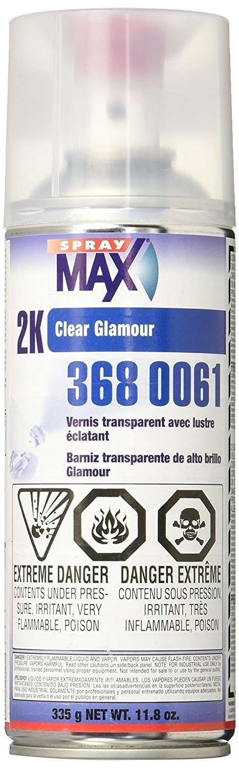 USC Spray Max 2k High Gloss Clearcoat Aerosol (6 PACK) by Spray Max