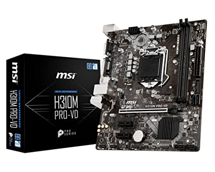 amazon com msi pro series intel coffee lake h310 lga 1151 ddr4 rh amazon com