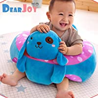 DearJoy Cotton Toddlers Training Seat Baby Safety Sofa Dining Chair/Learn to Sit Stool, 3-12 Months (Blue)