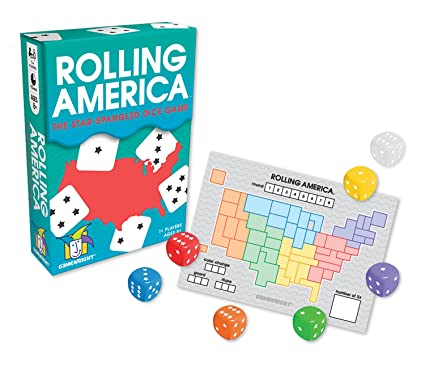 Amazon.com: Rolling America, The Star Spangled Dice Action Game ...
