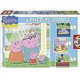 Peppa Pig - Puzzles progresivos, 6 - 9 - 12 - 16 piezas (Educa Borrás 15918)
