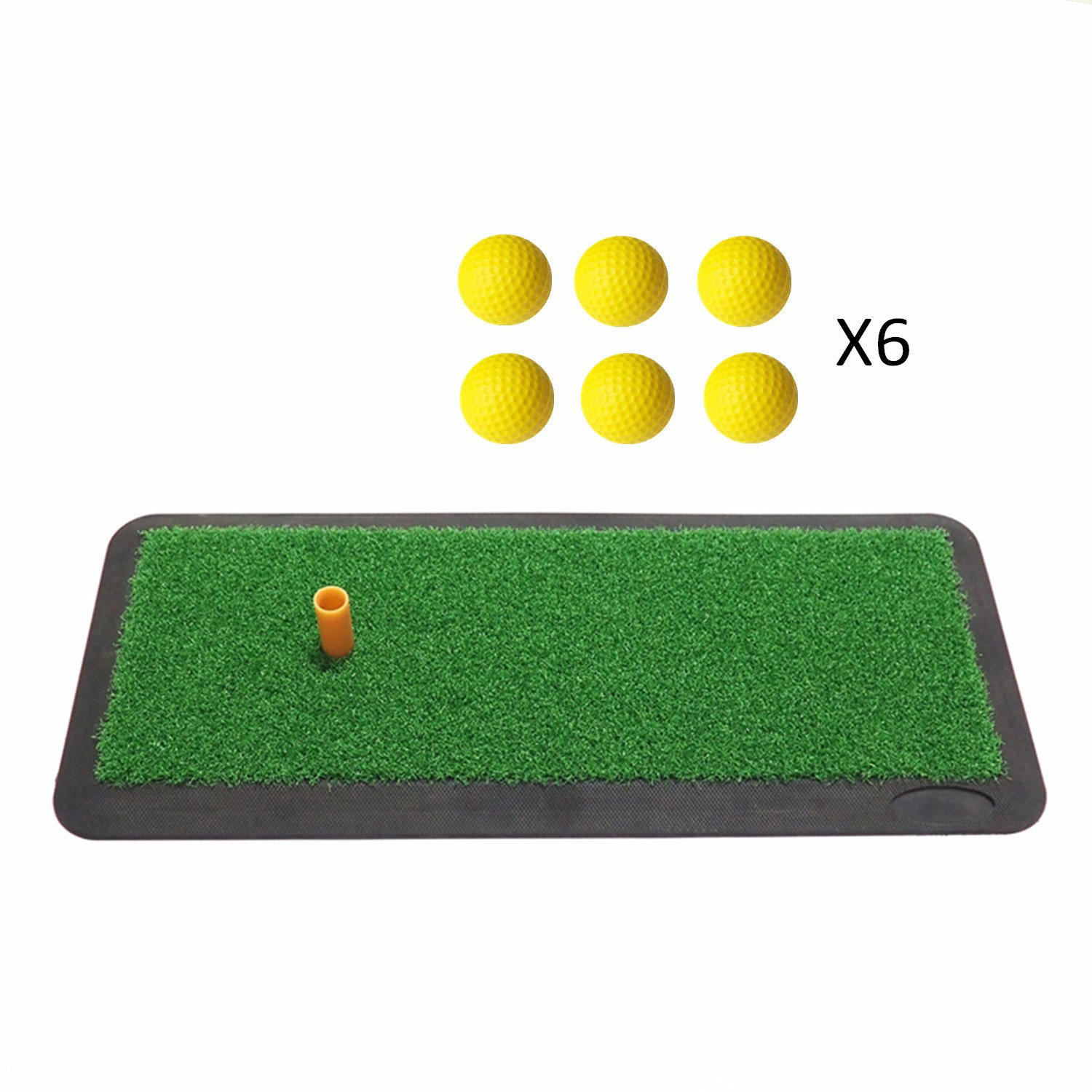Afagolf Golf Practice Mat, Portable Golf Hitting Mat for Indoor and Outdoor Golf Training Aids