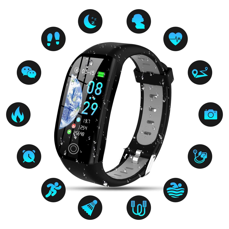 Tipmant Pulsera de Actividad, Reloj Inteligente Smartwatch Impermeable IP68 Pulsera Inteligentes con Pulsómetro Podómetro Calorías Pulsera Deporte ...