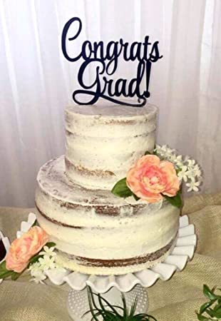 Amazon Com Usa Sales Graduation Cake Topper Congrats Grad Cake