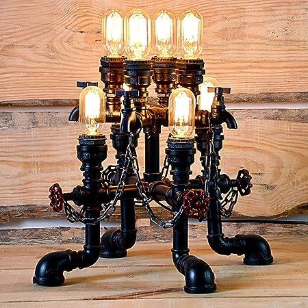 Jtivcs 8 luces Vintage Steampunk Pipa de agua Lámpara de ...