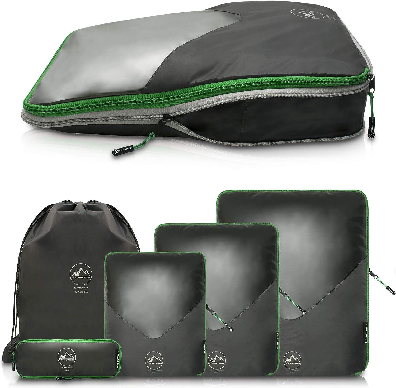 Packtaschen Set mit Kompression I 3-teiliges Koffer Organizer Set I Robust und Langlebig I Packw/ürfel I Packing Cubes f/ür Rucksack-Reisen//Backpacking von effectum
