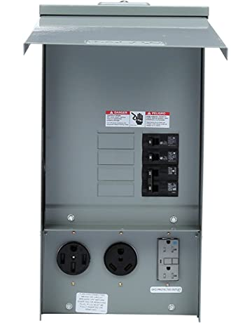 siemens tl137us talon temporary power outlet panel with a 20, 30, and 50-