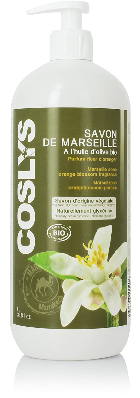 Coslys Hygiène Corporelle Savon de Marseille Corporel Fleur d'Oranger 1 L