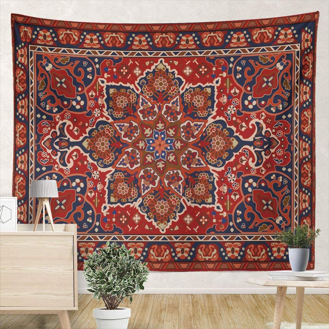 AIHUAW Tapestry Persian Tribal Floral 82.7 X 59.1 inches Tapestry Wall Hanging for Living Room Bedroom Dorm