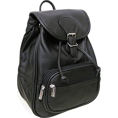 Amazon.com | AmeriLeather Ladies' Leather Backpack (Black ...