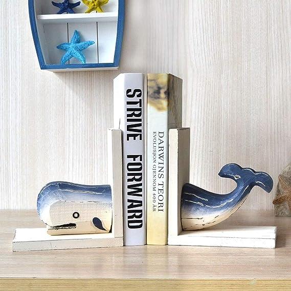 GX Sujetalibros de Ballenas,Sujetalibros Conjunto de estatuas Decorativos Oficina Estudio Sala Biblioteca Decoraci/ón Figurines
