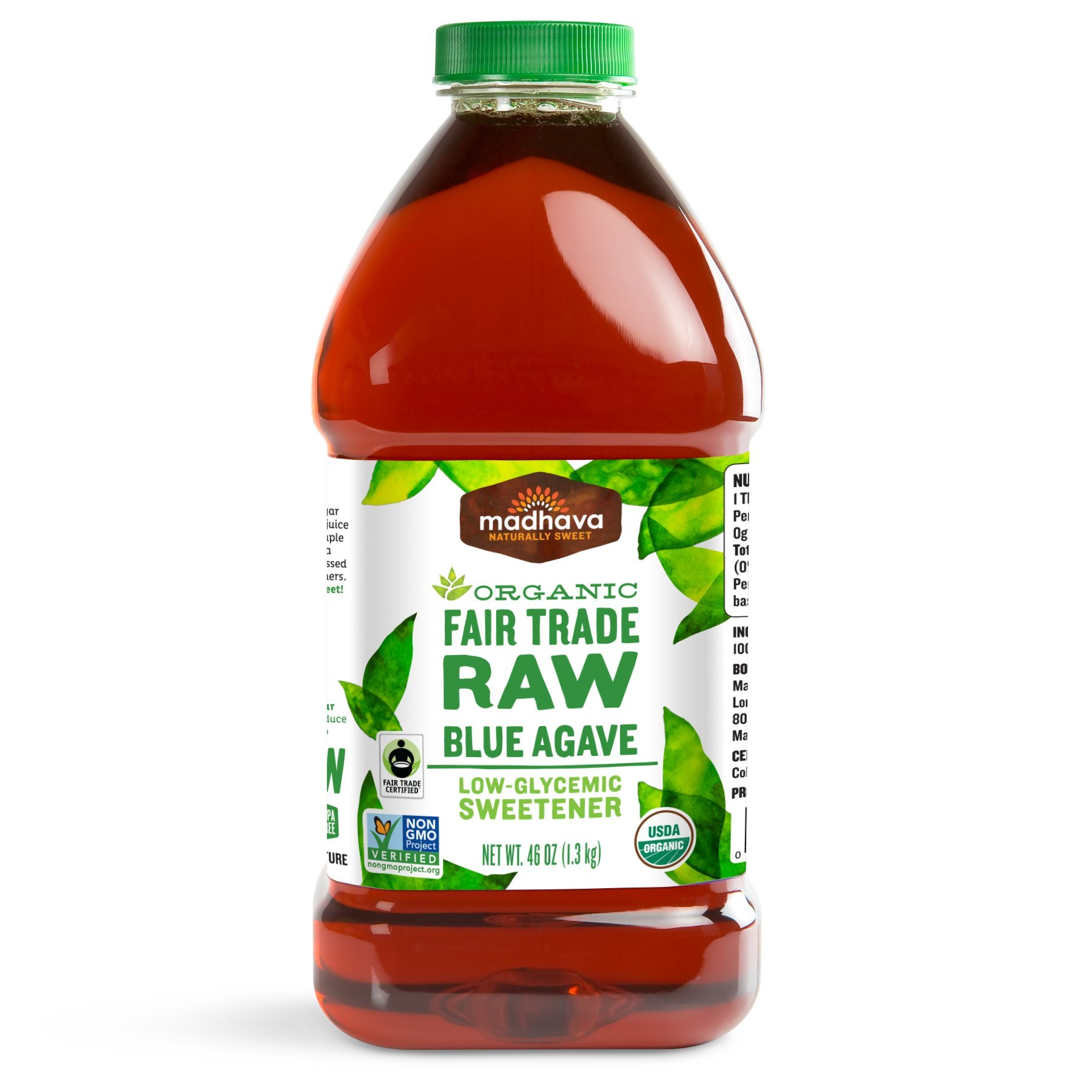 Madhava Organic Agave Nectar- Raw, 46-Ounce Bottle (Pack of 2)