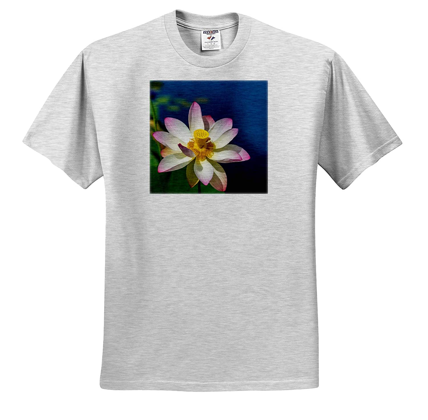 Lotus fower in Water 3dRose RONI Chastain Photography T-Shirts Blooming