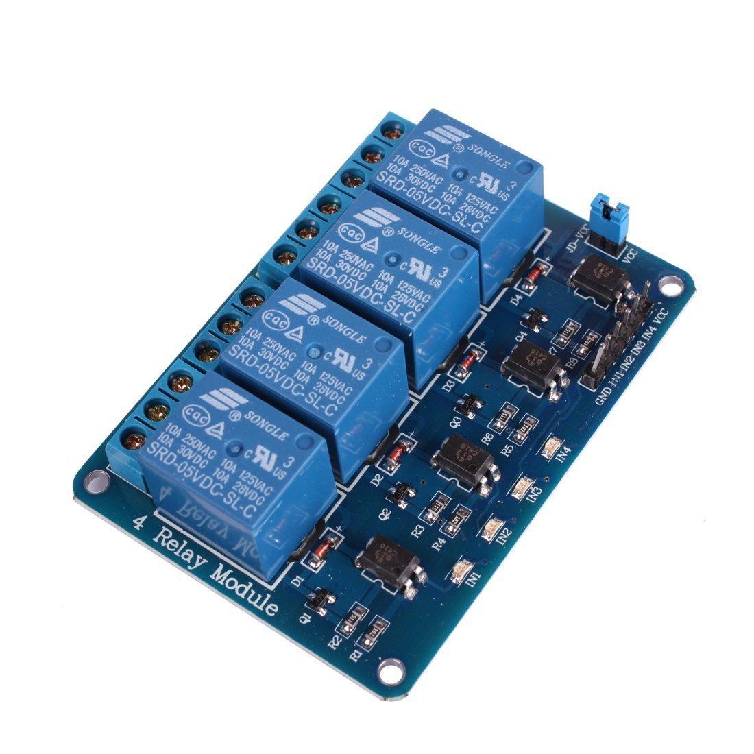 Electrobot Eb 4ch5v Rebimp Channel Dc 5v Relay Module Breadboard Circuit Test Board Rees52 Industrial Scientific