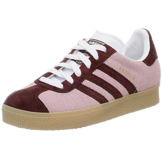 adidas Originals Women\u0027s Gazelle 2 Sneaker,Pearl/LtMaroon/Gum3,6.5 M