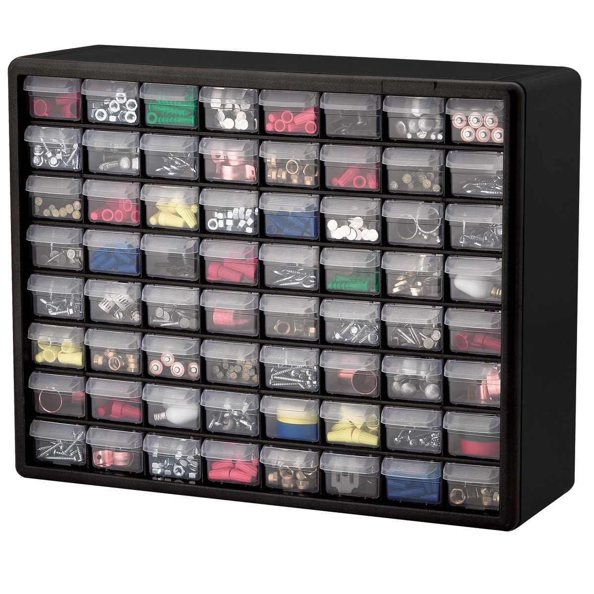 Amazon.com Akro-Mils 10164 64 Drawer Plastic Parts Storage Hardware and Craft Cabinet 20-Inch by 16-Inch by 6-1/2-Inch Black Home Improvement  sc 1 st  Amazon.com : small storage drawers plastic  - Aquiesqueretaro.Com