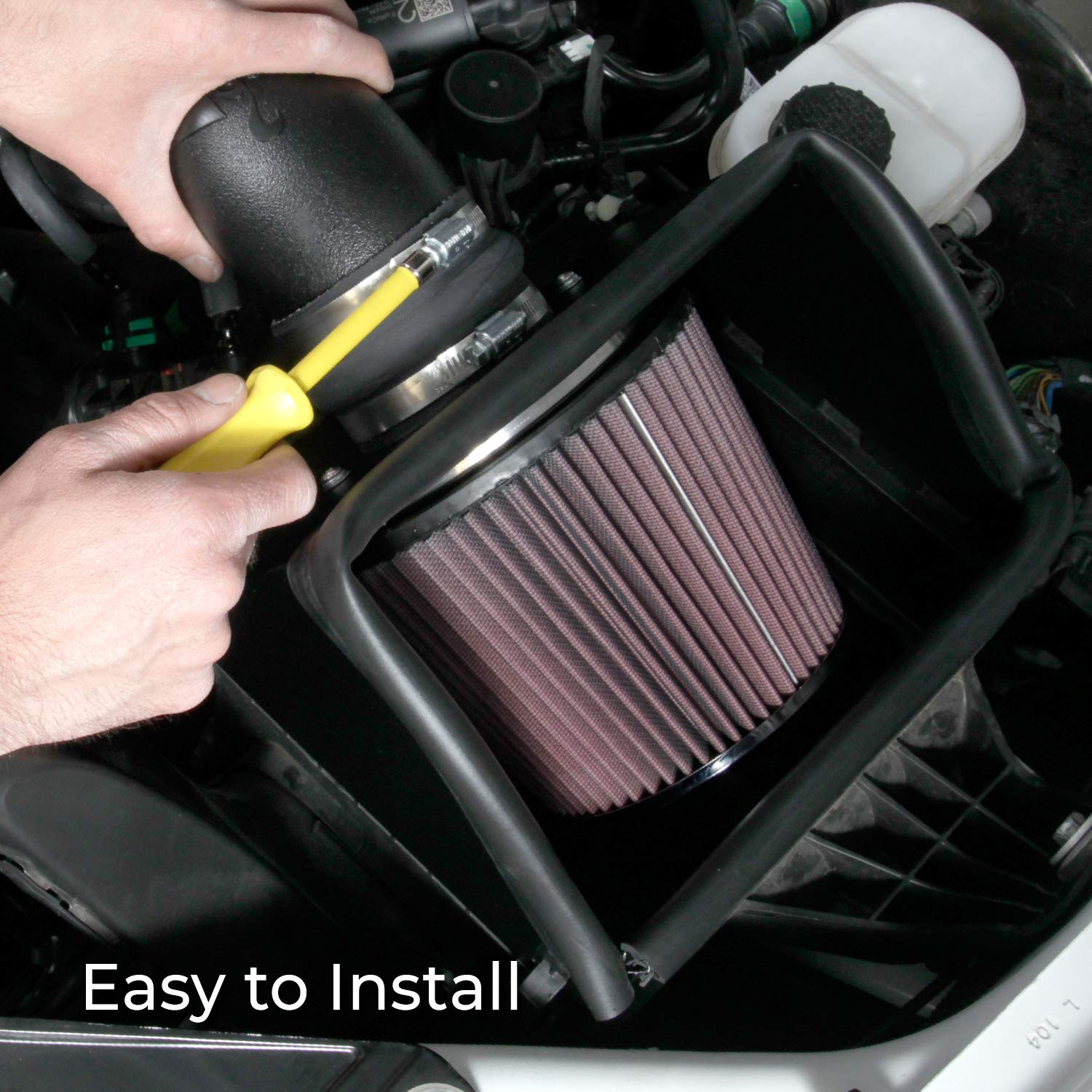 K/&N 63-1561 AirCharger Performance Air Intake System with Filter Care Service Kit