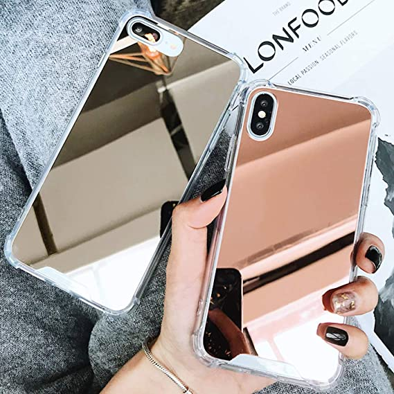 best service d5f11 75fec Honsir Compatible iPhone 7 Plus/iPhone 8 Plus Mirror Case for Women Girls  Make up, Glitter Ultra-Thin Mirror TPU Back Protect Cover for iPhone7 ...