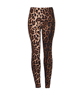 df8daacc9ef81a Karma Womens Leopard Animal Print Full Ankle Length Tight Leggings 8-14 -  Sm 8-10: Amazon.co.uk: Clothing