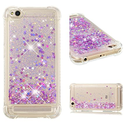 buy popular 6ddfe e3425 Amazon.com: Aipyy Xiaomi Redmi 5A Case, Luxury Floating Glitter Case ...