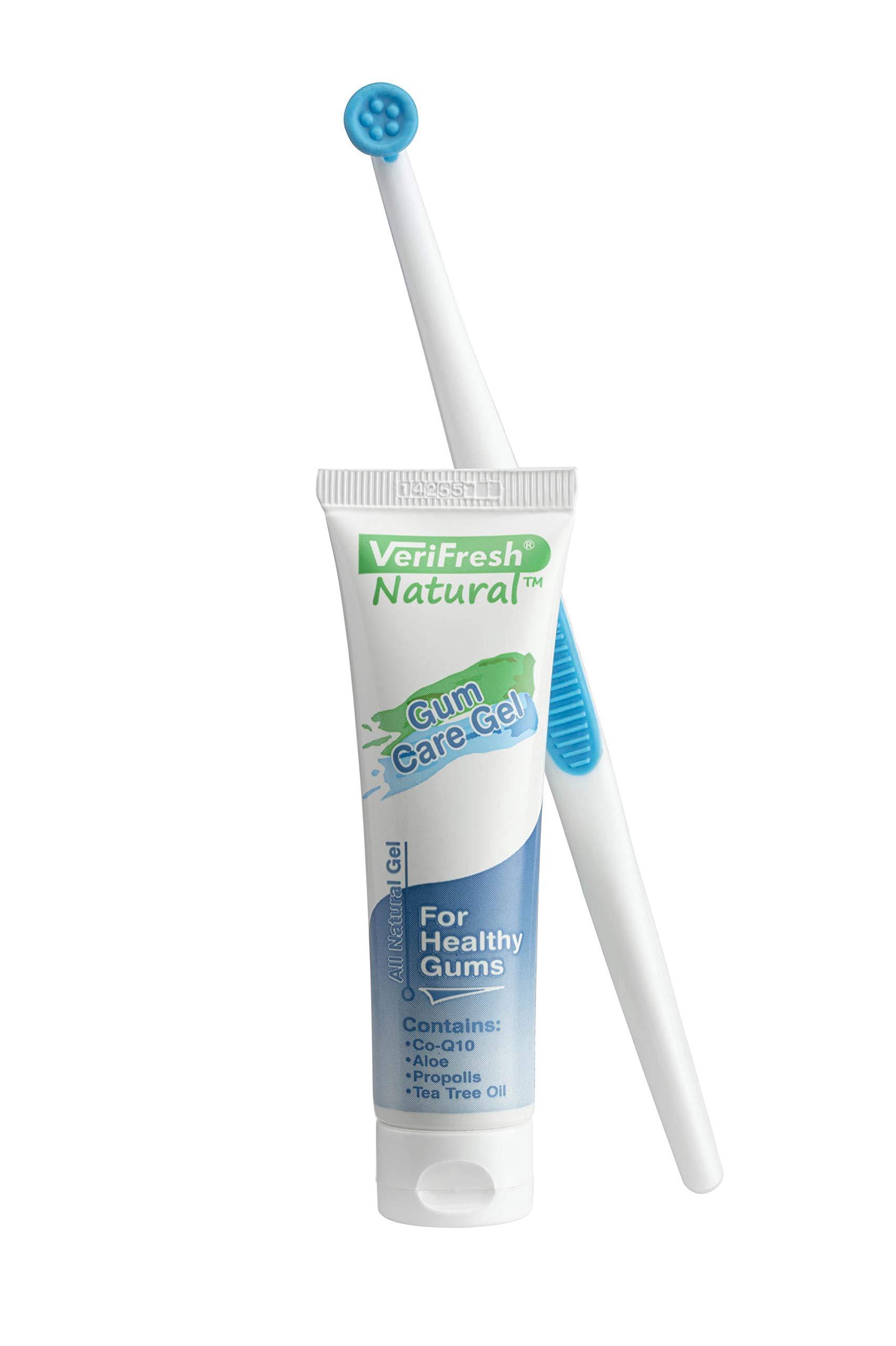 Gum Stimulator/Massager and All Natural Gum Gel - VeriFresh - Gum Care Kit for Healthy Gums