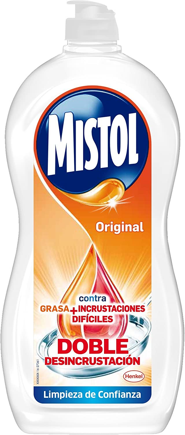 Mistol 2101110 Original Lavavajillas Mano - 978 gr, Neutro: Amazon ...