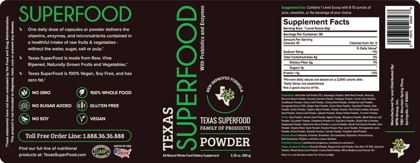 Amazon.com: Texas Superfood Polvo – Nuevo y mejorado: Health ...