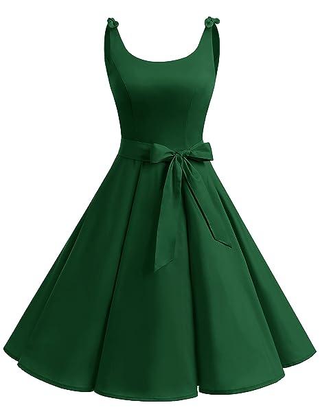Vintage Dresses Australia- 20s, 30s, 40s, 50s, 60s, 70s Bbonlinedress 1950s Bowknot Vintage Retro Polka Dot Rockabilly Swing Dress AUD 47.77 AT vintagedancer.com