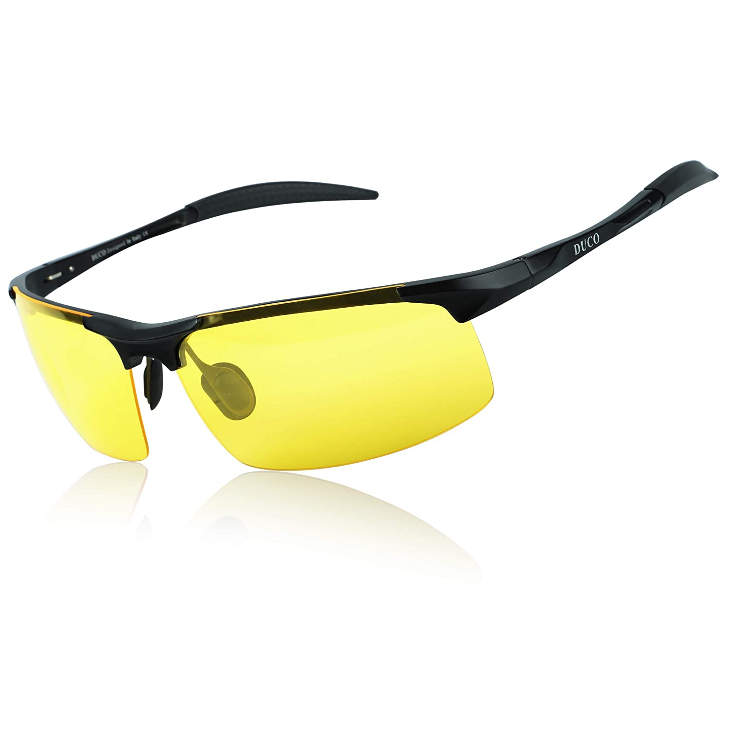 2518af89b7a Amazon.com  Duco Night-vision Glasses Polarized Night Driving Men s  Shooting Glasses 8177  Clothing