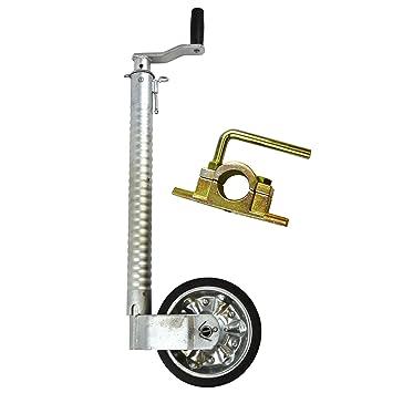 AB Tools 48mm Rueda Jockey estriada para remolque con abrazadera fundida 48mm_costilla_TR021: Amazon.es: Coche y moto